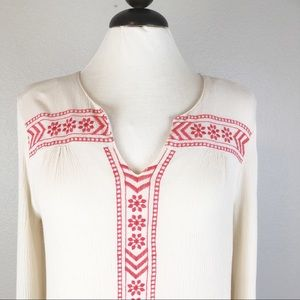 Umgee Embroidered Boho Pleasant Blouse